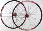 26 Zoll MTB Novatec Light Disc rot / Alexrims XCR comp / D-Light 1555 g Laufradsatz