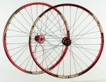 26 Zoll MTB Novatec Light Disc rot / Sun Rims / D-Light 1999 g Laufradsatz